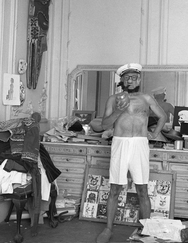 Пикассо — Попай, 1957. Фото Андре Вилье