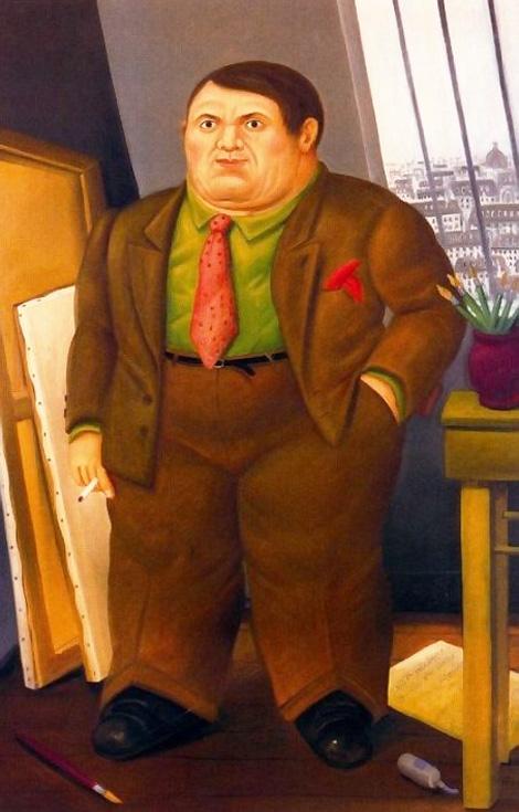 Fernando-Botero_Picasso-a-Parigi-nel-1930_1998