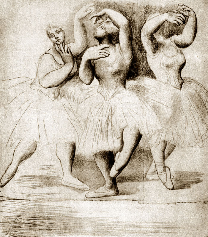 Картина Пабло Пикассо. Три танцовщицы. 1919
