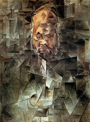 Пабло Пикассо. Портрет Амбруаза Воллара. 1910. Период творчества аналитический кубизм | Pablo Picasso онлайн – работы, картины, живопись, рисунки, скульптура