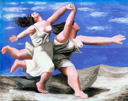 Пабло Пикассо. Две женщины, бегущие по пляжу (Бег). 1922. Период классицизма в творчестве художника | Pablo Picasso online – картины Герника, Женщина с гитарой