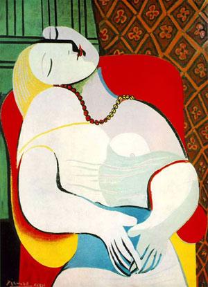 Пабло Пикассо. Сон. 1932. Период сюрреализма в творчестве художника | PicassoLive – самые известные картины