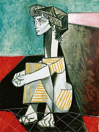 Пабло Пикассо. Жаклин со скрещенными руками. 1954. Поздний период творчества художника | Pablo Picasso online – жизнь, биография, женщины