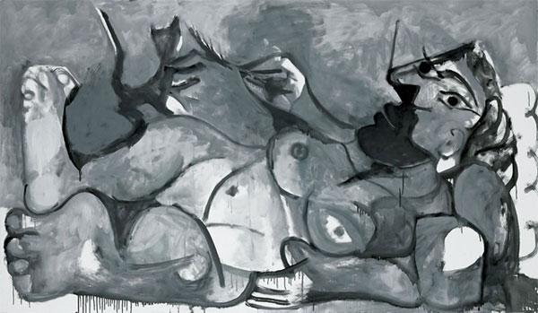 Nu-couche-jouant-avec-un-chat_1964