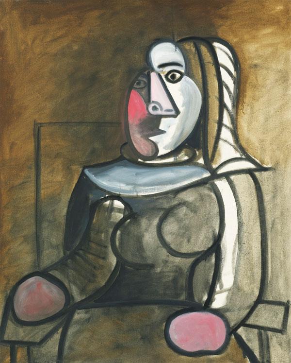 Картина Пабло Пикассо. Сидящая женщина (Дора Маар). 1943 ($4,3 млн)