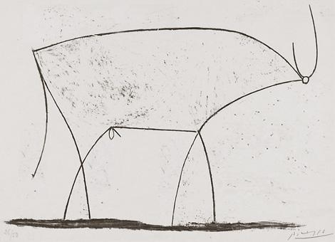 В военный период Пикассо работает так же напряженно - картины, рисунки и литографии этого периода быди выставлены после войны на выставке в Париже.