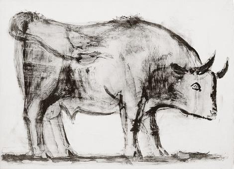 Пабло Пикассо. Литография Бык 1945-1946 | Pablo Picasso online