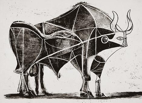 Бык - один из самых частых и любимых образов, встречающихся в работах Пикассо