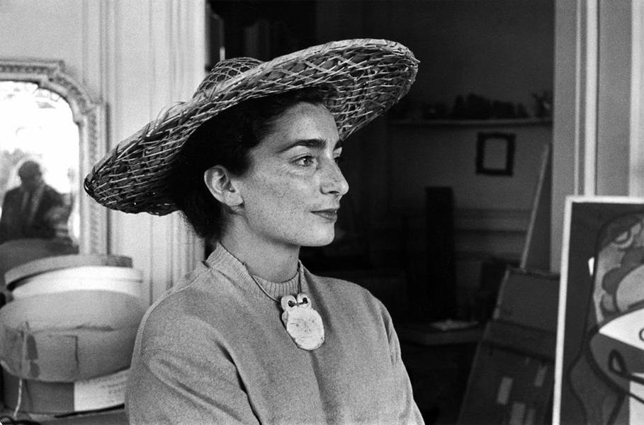 Жаклин Рок в соломенной шляпе, 1957