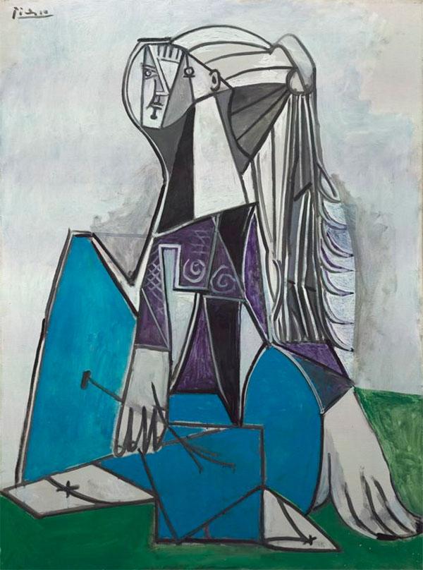 Картина Пабло Пикассо. Портрет Сильветт Давид. 1954