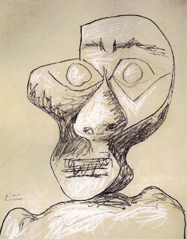 Картина Пабло Пикассо. Автопортрет. 2 июля 1972