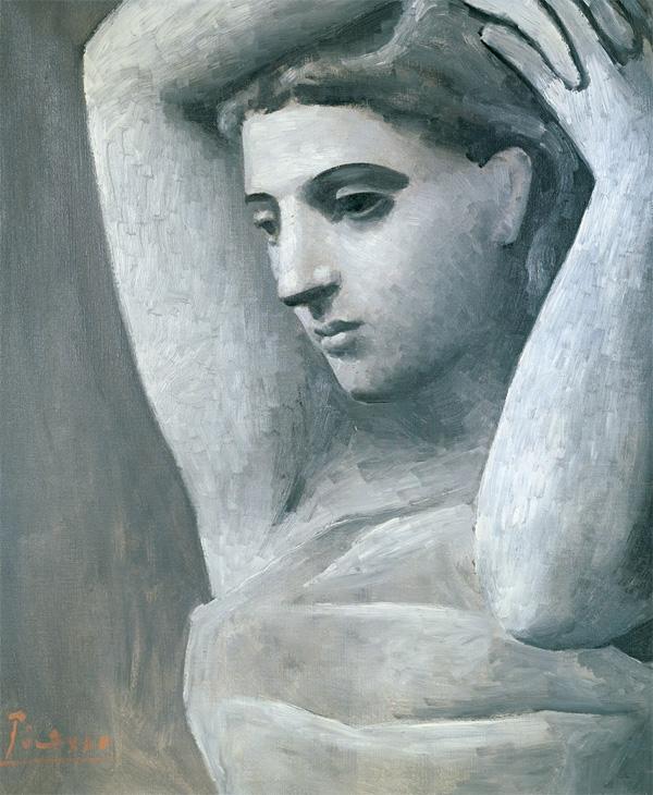 Картина Пабло Пикассо. Портрет женщины с поднятыми руками. 1922