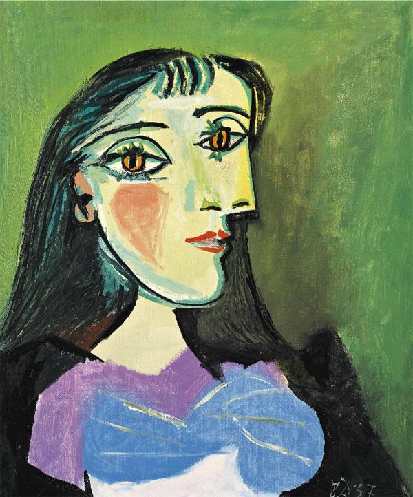 Картина Пабло Пикассо. Бюст женщины. 1937 ($13,1 млн)