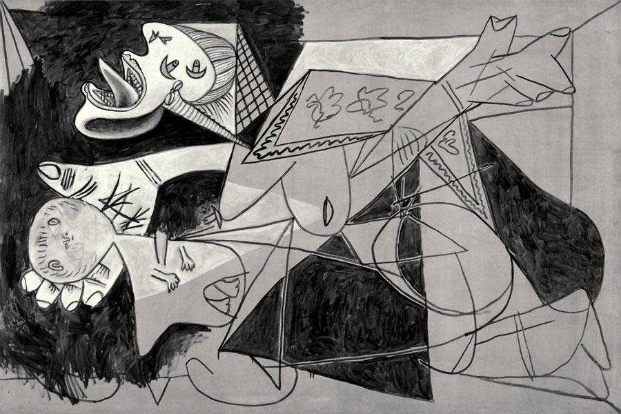 Картина Пабло Пикассо. Женщина с мертвым ребенком, постскиптум к Гернике. 1937