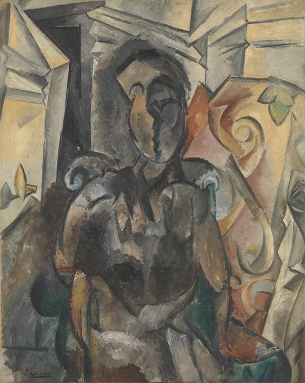 Картина Пабло Пикассо. Женщина в кресле. 1909