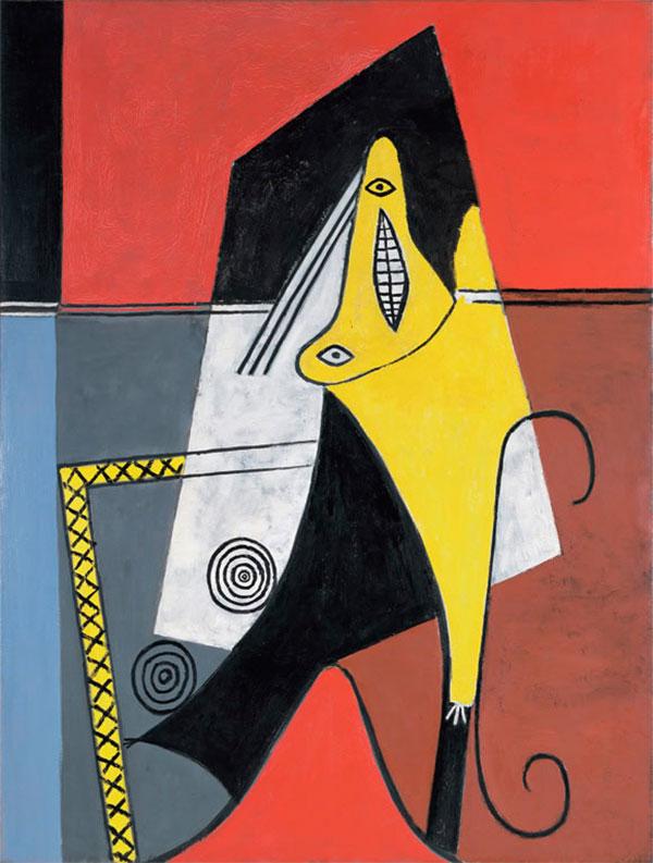 Картина Пабло Пикассо. Женщина в кресле. 1927