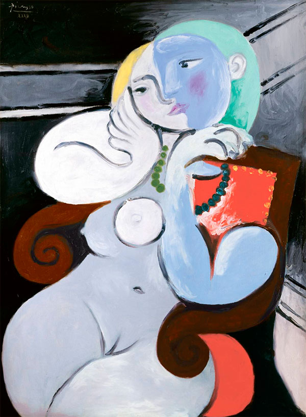 Картина Пабло Пикассо. Обнаженная в красном кресле. 1932