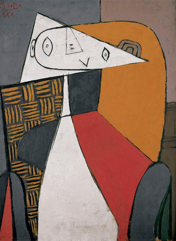 Картина Пабло Пикассо. Фигура (Сидящая женщина). 1930