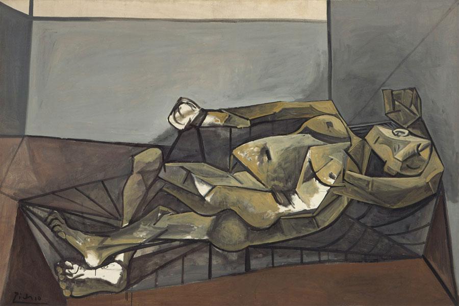 Картина Пабло Пикассо. Большая лежащая обнаженная. 1942