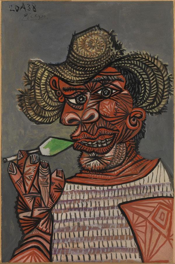 Картина Пабло Пикассо. Человек с леденцом. 1938