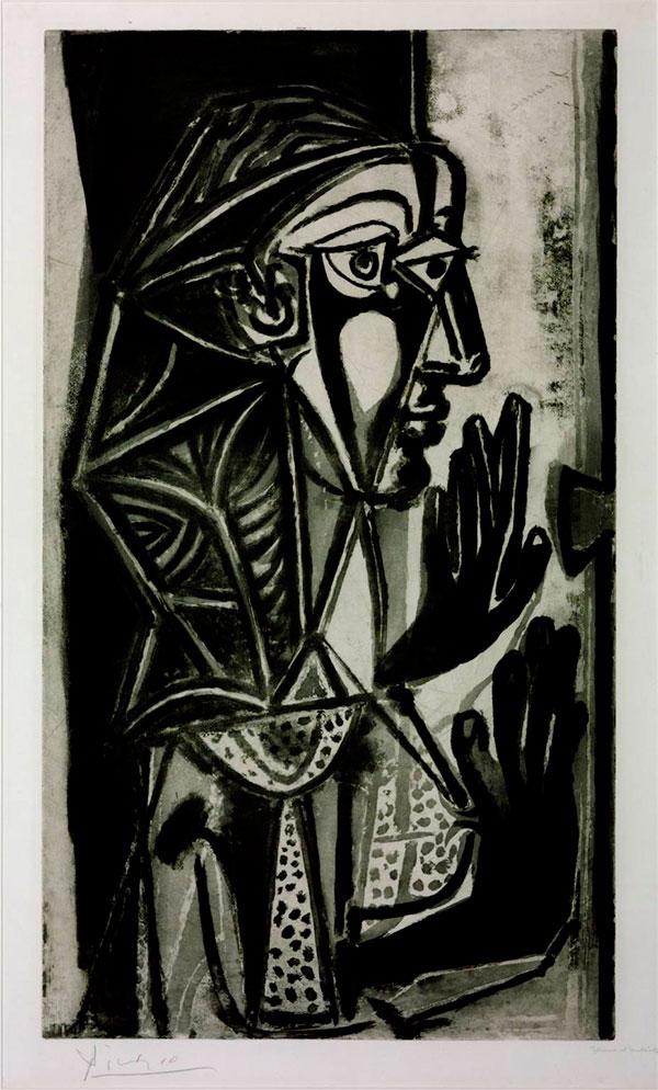 Картина Пабло Пикассо. Женщина у окна. 1952