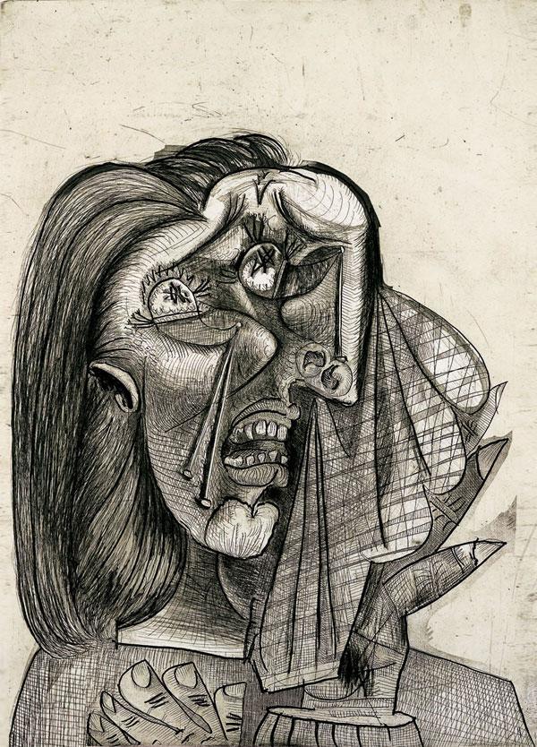 Картина Пабло Пикассо. Плачущая женщина. 1937