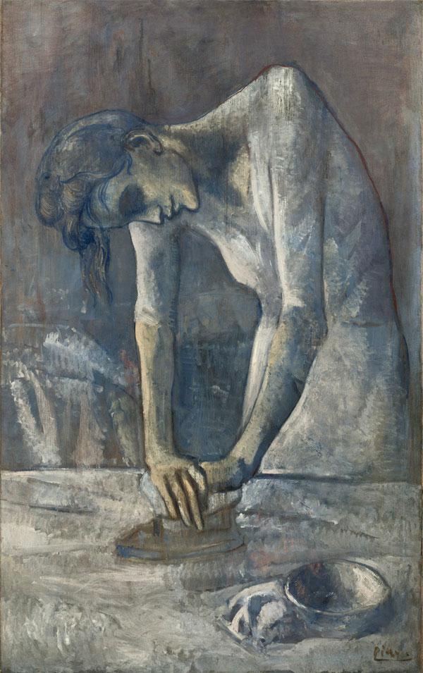 Картина Пабло Пикассо. Гладильщица. 1904