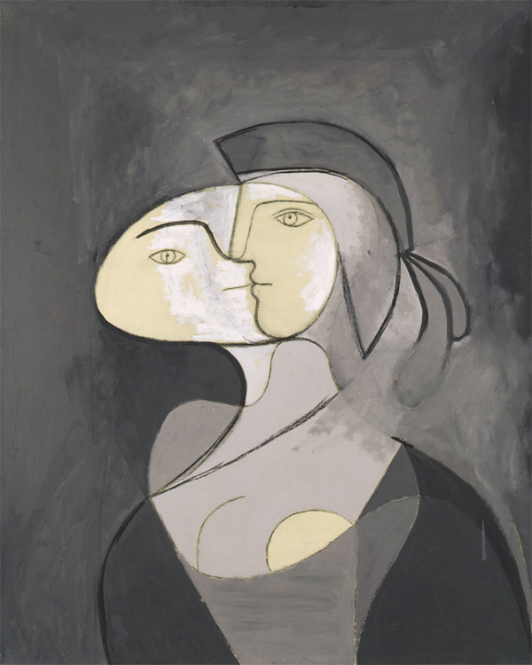 Картина Пабло Пикассо. Мария-Тереза анфас и в профиль. 1931