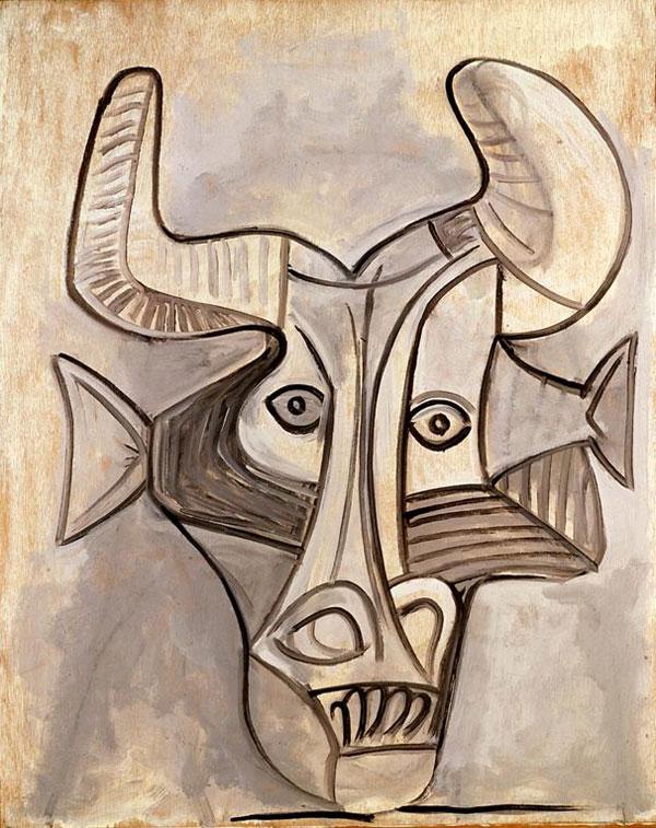 Картина Пабло Пикассо. Минотавр. 1958