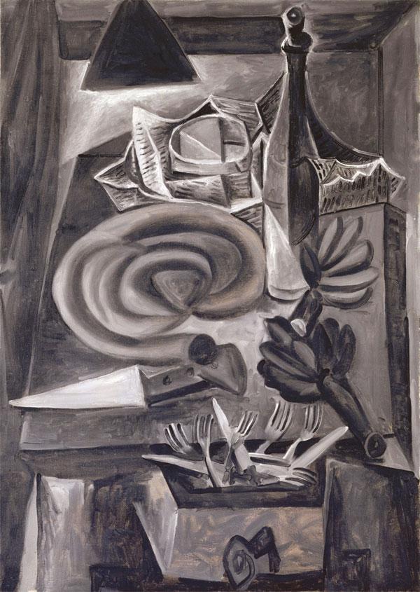 Картина Пабло Пикассо. Натюрморт с кровяной колбасой. 1941