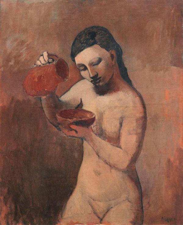 Картина Пабло Пикассо. Обнаженная с кувшином. 1906