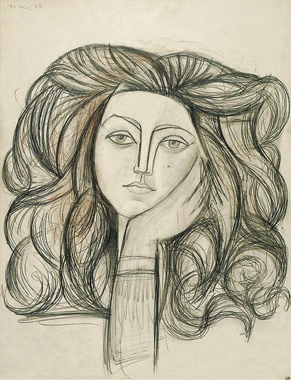 Картина Пабло Пикассо. Портрет Франсуазы. 1946
