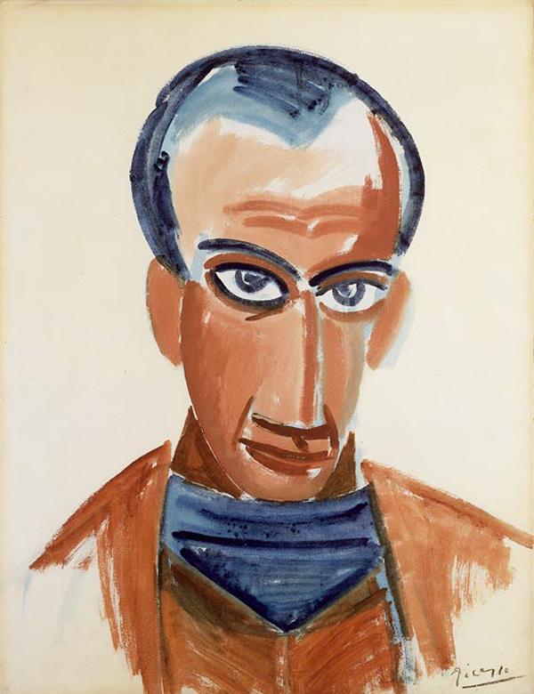 Картина Пабло Пикассо. Портрет Макса Жакоба. 1907
