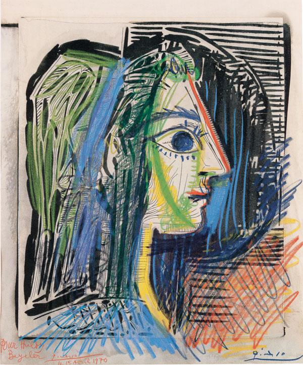 Картина Пабло Пикассо. Профиль женщины (Жаклин). 1969
