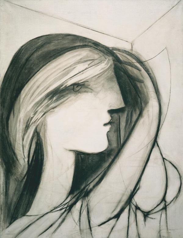 Картина Пабло Пикассо. Женский профиль (Мария-Тереза). 1934