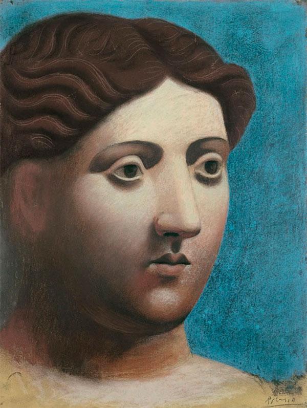 Картина Пабло Пикассо. Голова женщины. 1921
