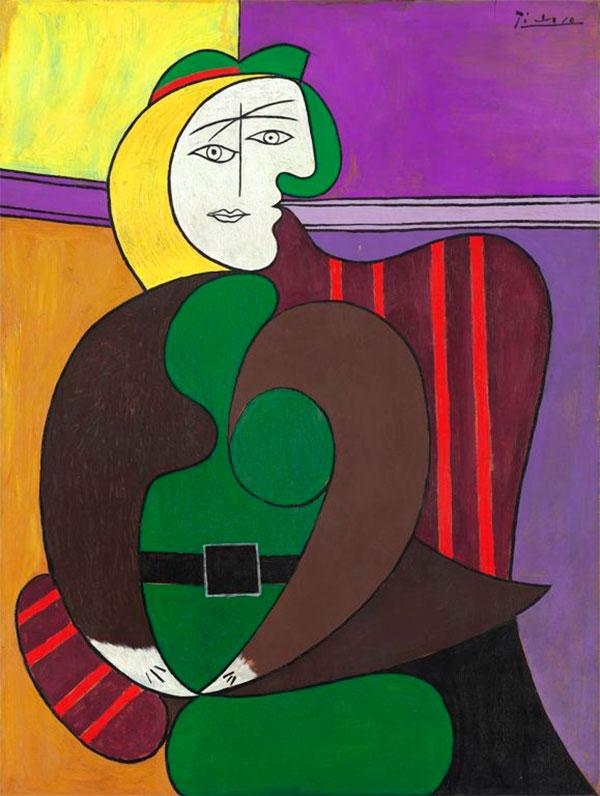 Картина Пабло Пикассо. Красное кресло. 1931