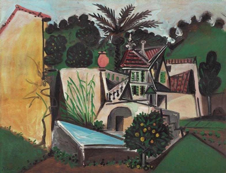 Картина Пабло Пикассо. Вилла в Валлорисе. 1951