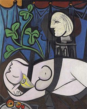Пабло Пикассо Обнаженная, зеленые листья и бюст 1932