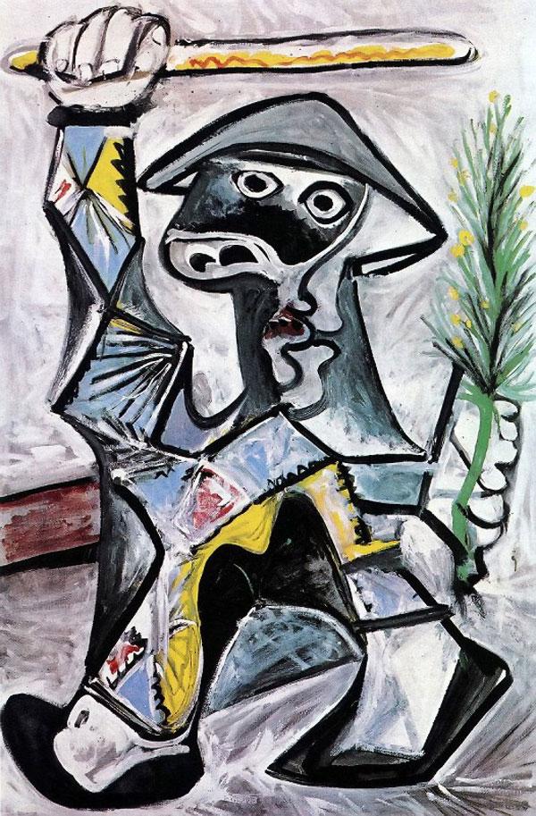 Картина Пабло Пикассо. Арлекин с палкой. 1969 ($10,1 млн)