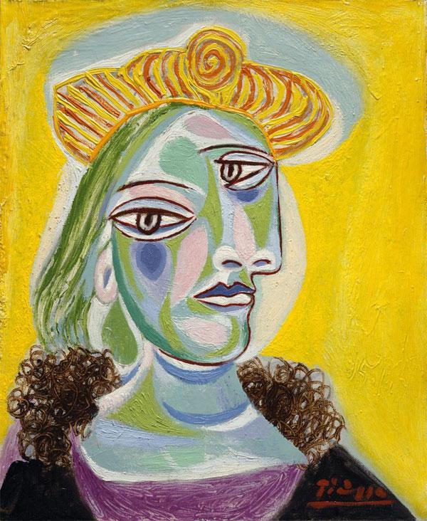 Картина Пабло Пикассо. Бюст женщины (Дора Маар). 1938