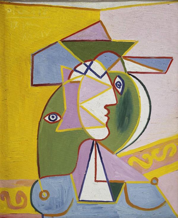 Картина Пабло Пикассо. Женщина в шляпе (Мари-Терез Вальтер). 1934