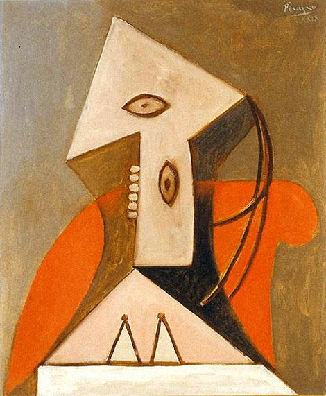 Картина Пабло Пикассо. Женщина в красном кресле. 1929