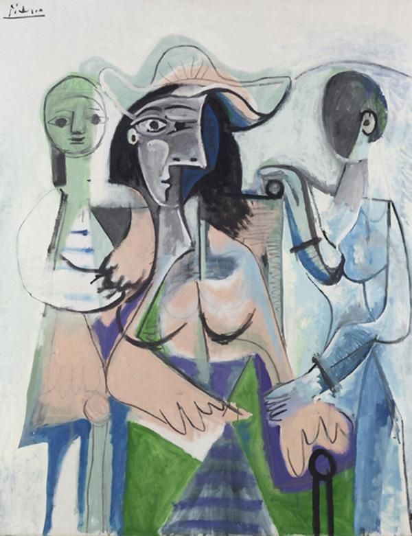 Картина Пабло Пикассо. Женщина с детьми. 1961