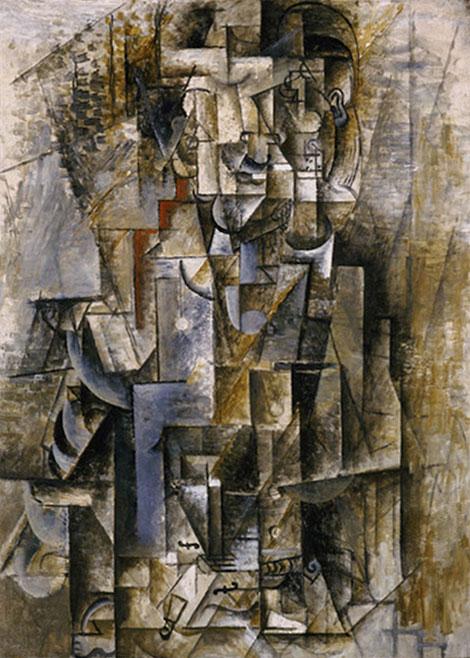 Картина Пабло Пикассо. Человек со скрипкой. 1912