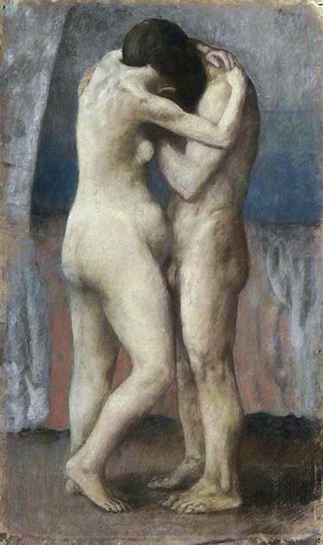 Картина Пабло Пикассо. Объятия. 1903
