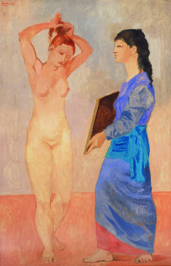 Картина Пабло Пикассо. Туалет. 1906