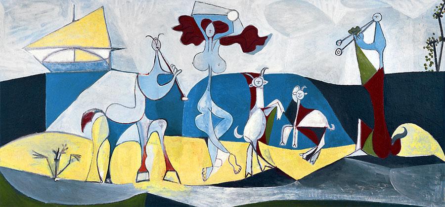http://picassolive.ru/wp-content/uploads/2013/01/Pablo-Picasso_La-joie-de-vivre_Pastorale_1946.jpg