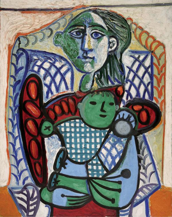 Картина Пабло Пикассо. Материнство. 1948