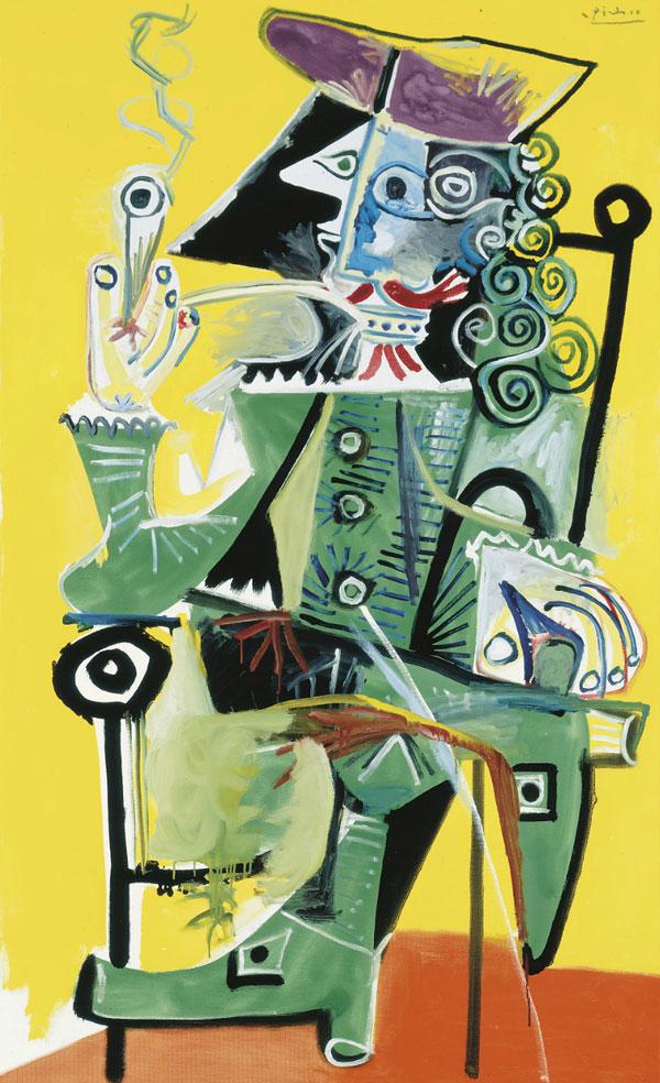 Картина Пабло Пикассо. Мушкетер с трубкой. 1968 ($14,6 млн)